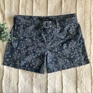Calvin Klein blue floral shorts - size 6